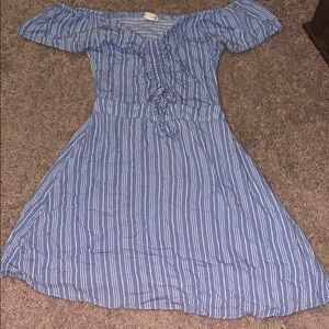 Aeropostale off the shoulder blue dress